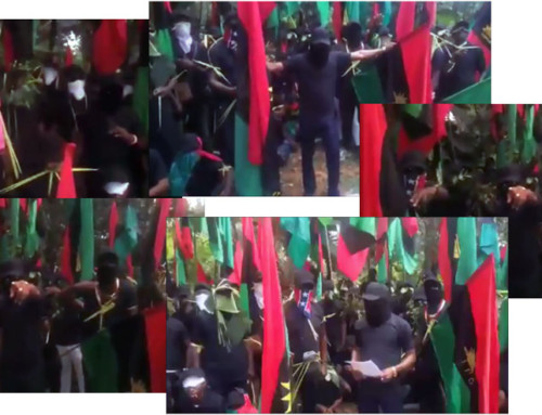 Video of Flag-wielding Masked Figures Could Be Handiwork of Abuja to Smear IOPB – Says IPOB-DOS