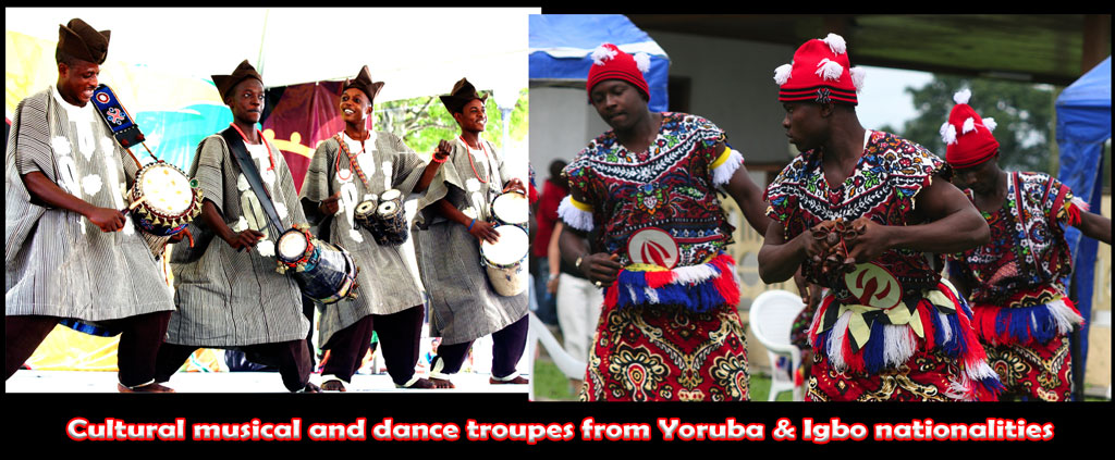 Igbo & Yoruba drummers/dancers
