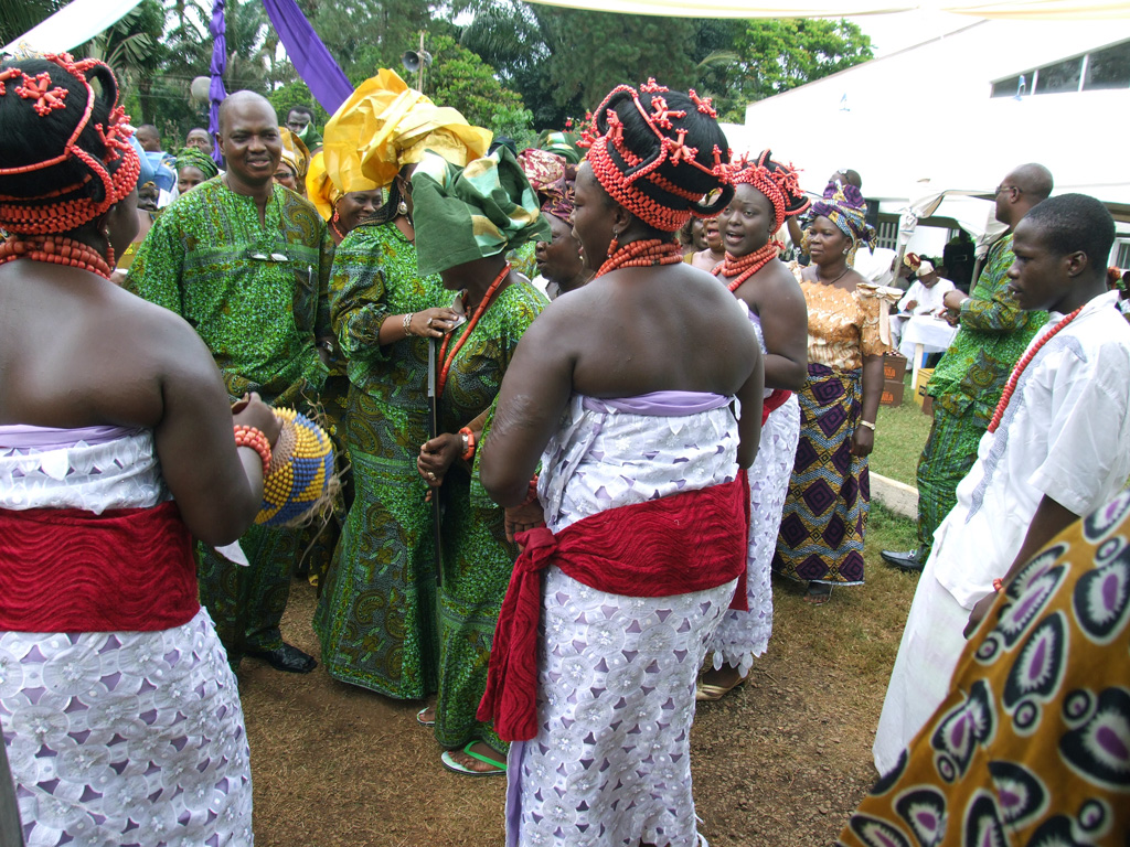 Traditional Dance Troupe form Benin Culture Performing at Funerary
