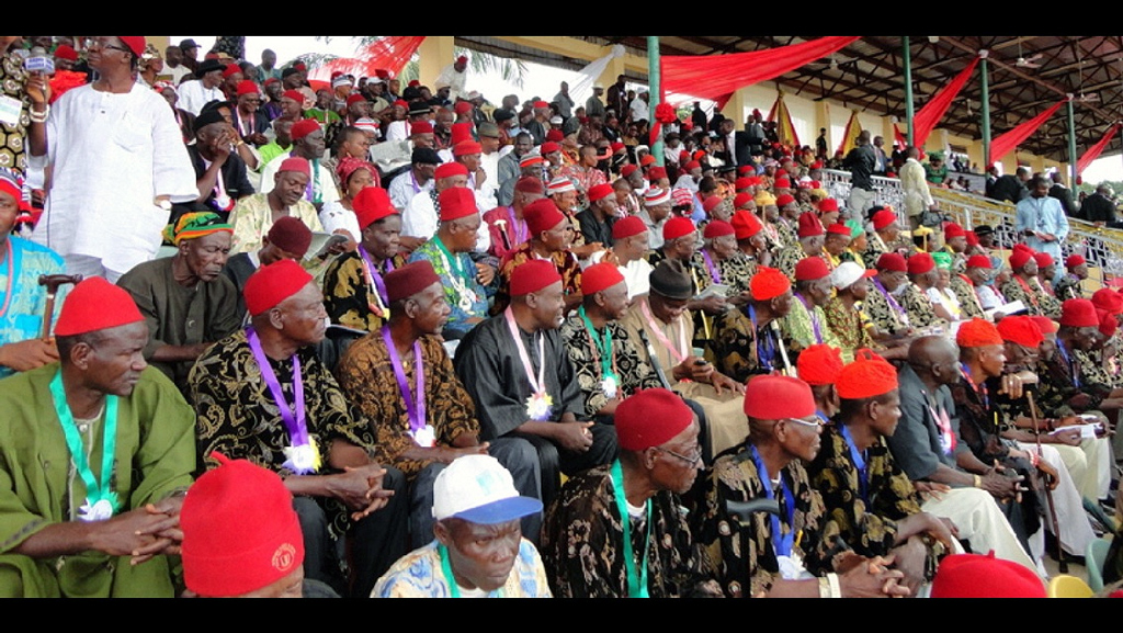 Igbo titled elders gather to deliberate