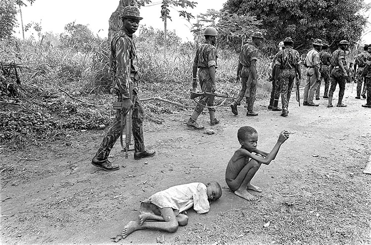 Scorched earth warfare to overwhelm civil-war Biafra