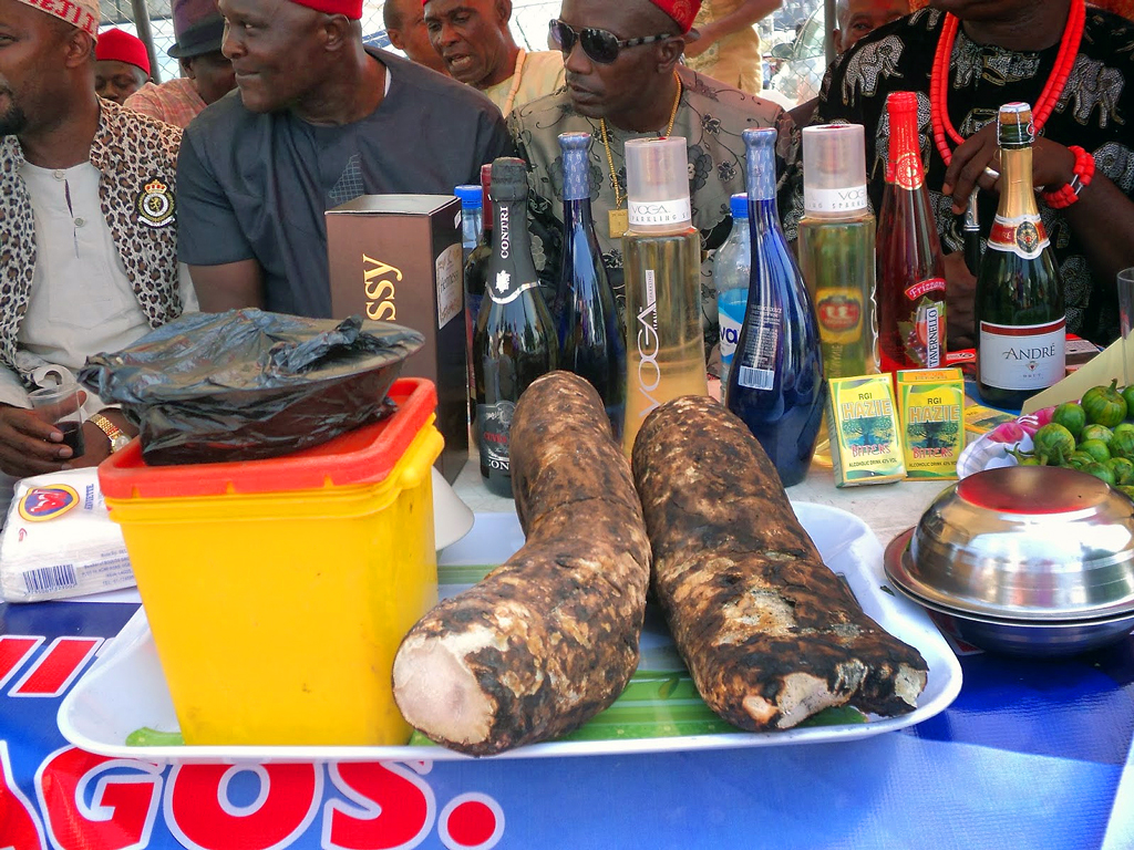 Community troops out to rejoice on arrival of the new yam