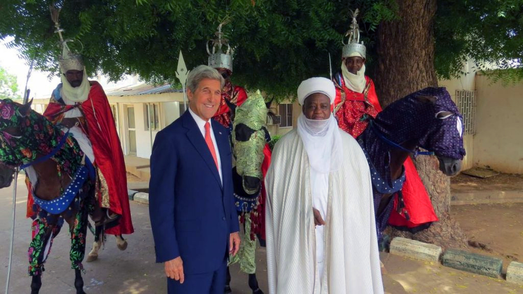 Kerry parleys with head of the Northern Islamic Caliphate