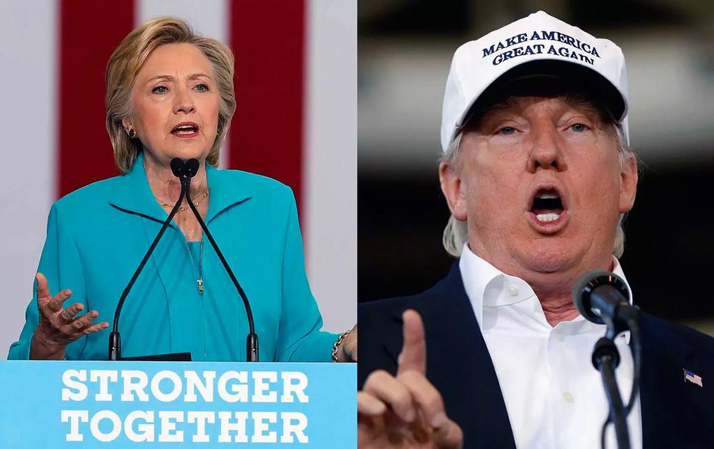 Democratic candidate, Clinton & Republican candidate, Trump
