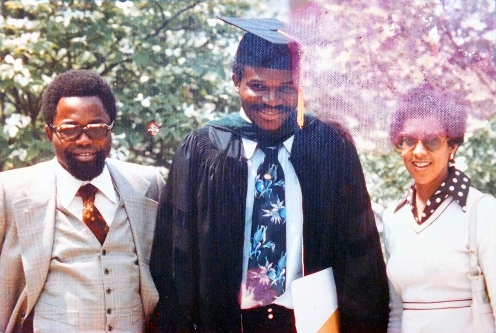 MD graduation photos with Odenigbo & Linda