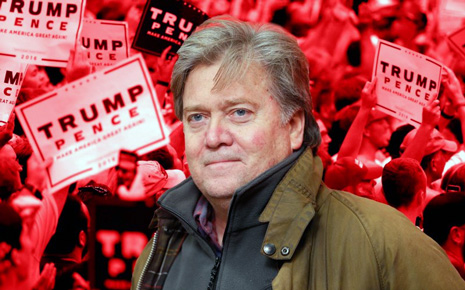 Steve Bannon was Trump's campaign CEO and is now fingered as White House staff.