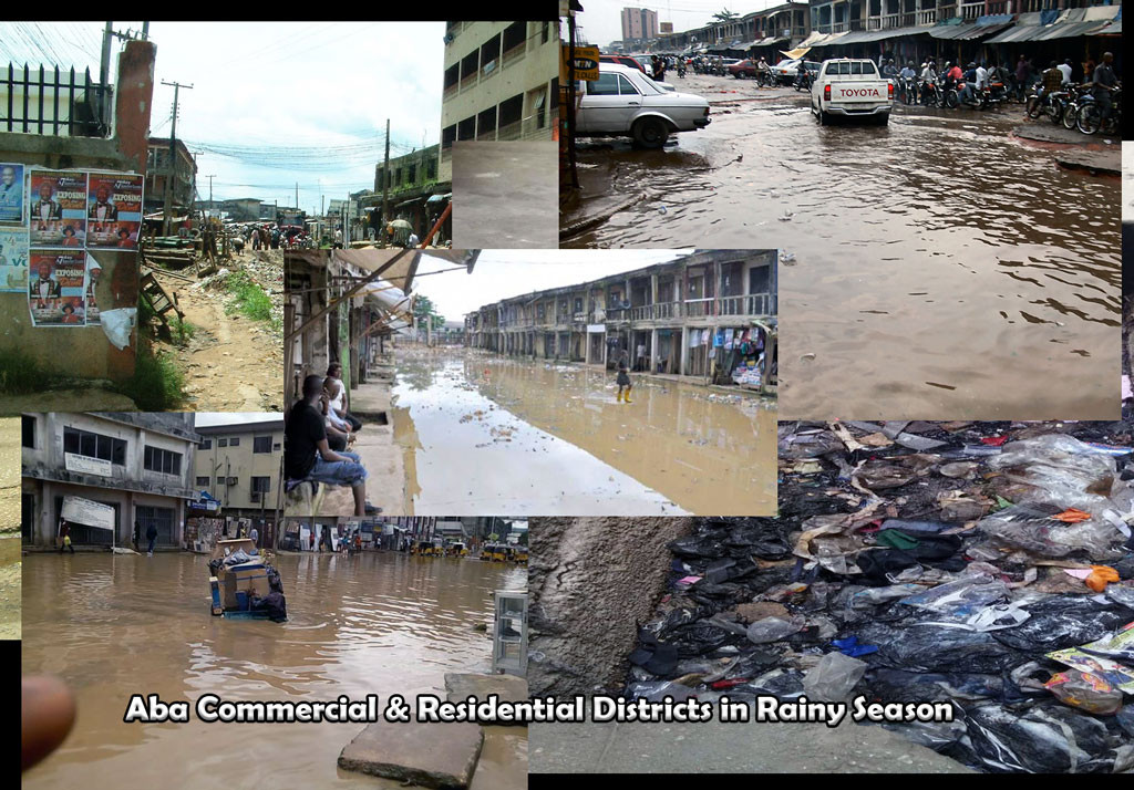 Flooded streets of Aba