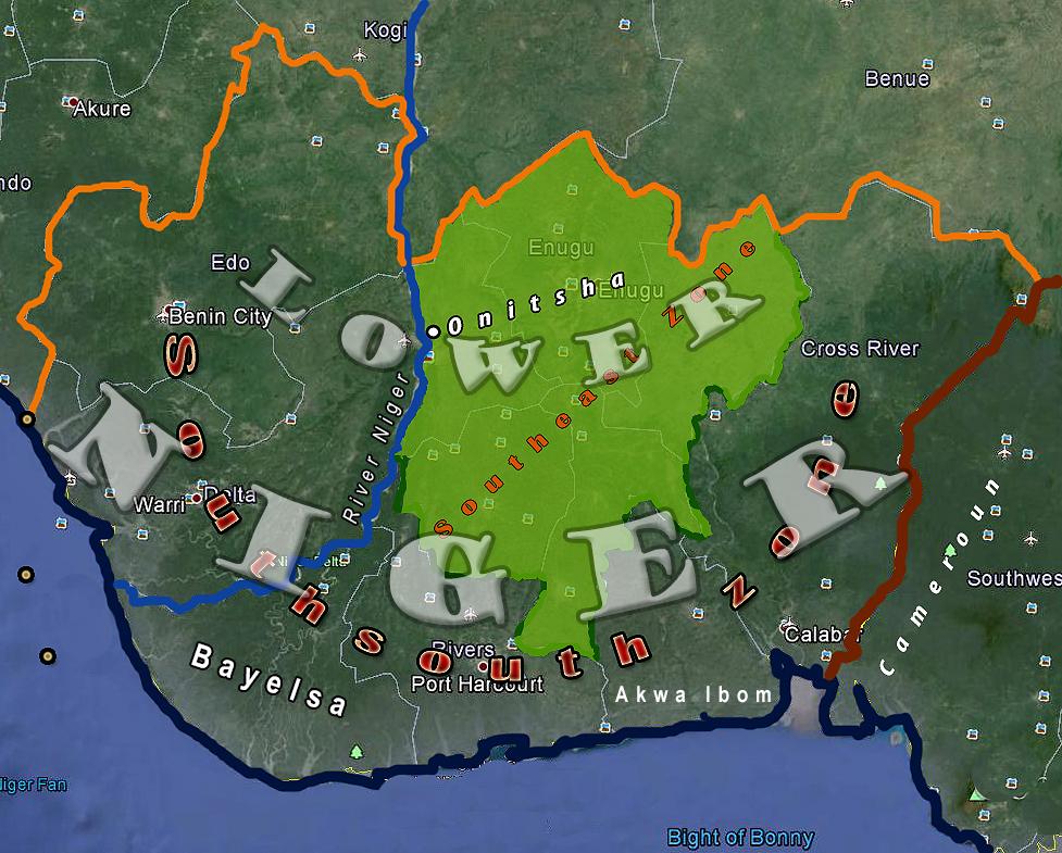 Lower Niger ground zero defined