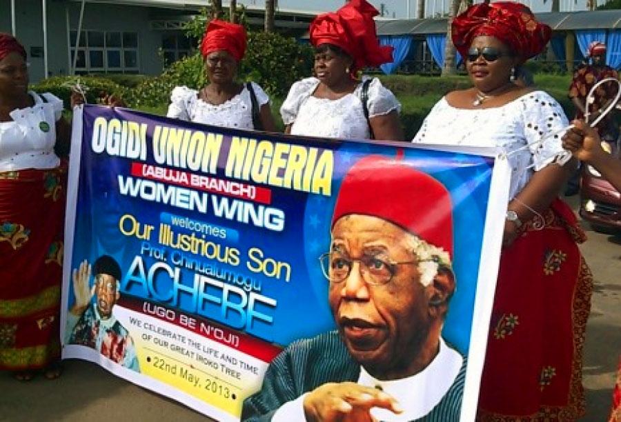 Ogidi townsfolk give hero's burial to Achebe