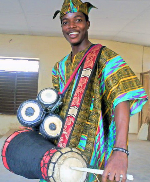 Yoruba talking drum.