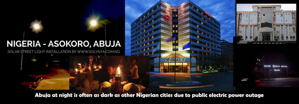 Nighttime Abuja is dark
