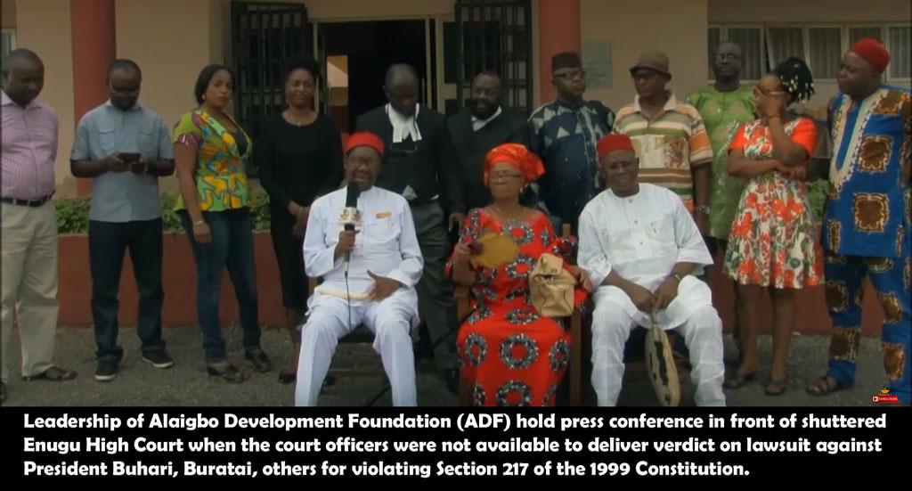 ADF sues Buhari, others
