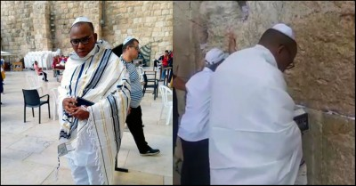 Nnamdi Kanu at the Wailing Wall