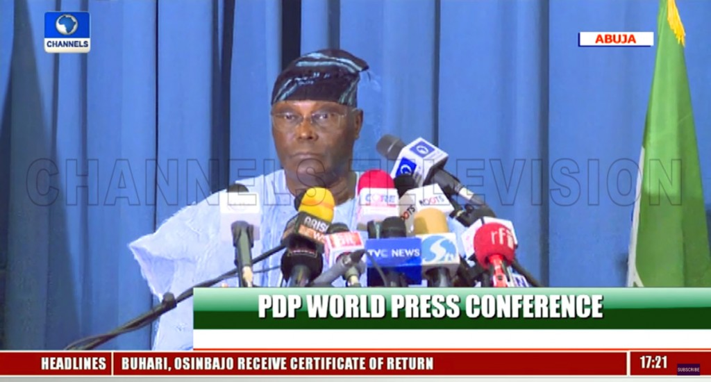 I reject INEC's results
