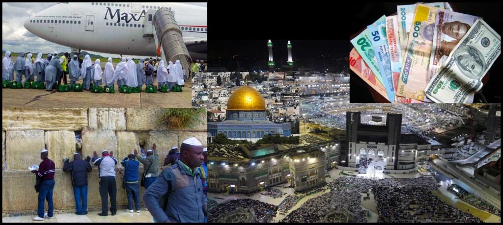 Nigerian pilgrims abound