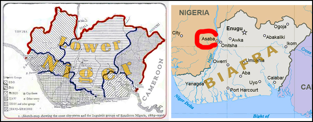 Asaba outside Biafra